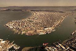 O porto de Santos